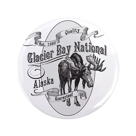 """Glacier Bay Vintage Moose 3.5"""" Button"""