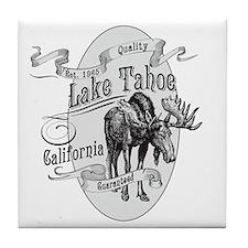 Lake Tahoe Vintage Moose Tile Coaster