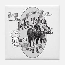 Lake Tahoe Vintage Moose Tile Coaster