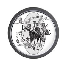 Lake Tahoe Vintage Moose Wall Clock