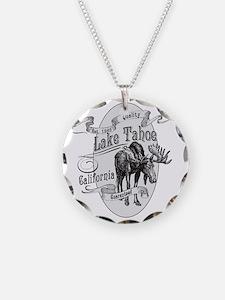 Lake Tahoe Vintage Moose Necklace