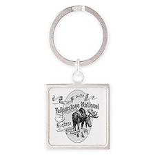 Yellowstone Vintage Moose Square Keychain