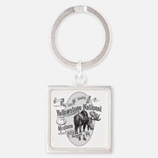 Yellowstone Vintage Moose Square Keychain