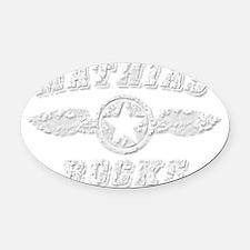 MATHIAS ROCKS Oval Car Magnet