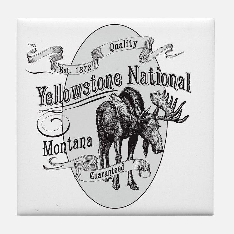 Yellowstone Vintage Moose Tile Coaster