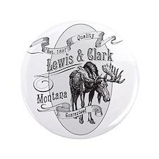 """Lewis  Clark Vintage Moose 3.5"""" Button"""