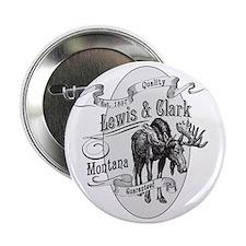 """Lewis  Clark Vintage Moose 2.25"""" Button"""
