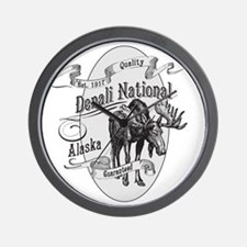 Denali Vintage Moose Wall Clock