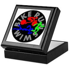 Triathlon Color Figures FLAT Keepsake Box