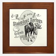 Steamboat Springs Vintage Moose Framed Tile