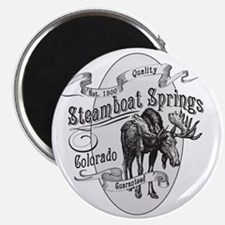Steamboat Springs Vintage Moose Magnet