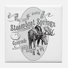 Steamboat Springs Vintage Moose Tile Coaster