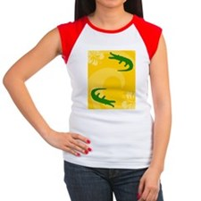 Alligator Rectangular L Women's Cap Sleeve T-Shirt