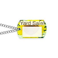 sunflower yard sale sign Dog Tags