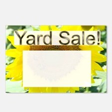 sunflower yard sale sign Postcards (Package of 8)