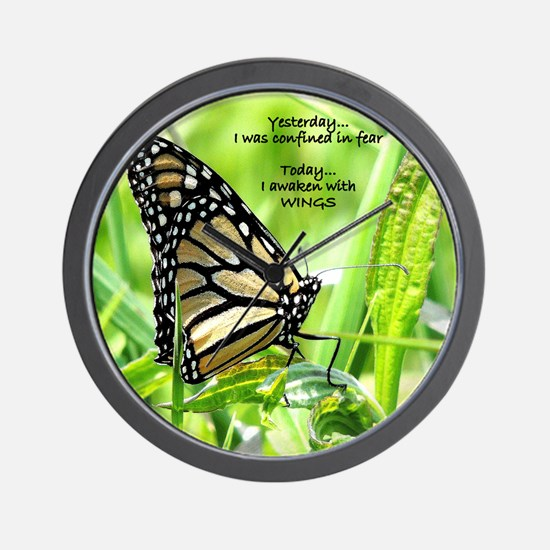 Thinking Butterfly Wall Clock