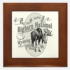 Bighorn Vintage Moose Framed Tile