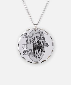 Grand Teton Vintage Moose Necklace