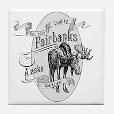 Fairbanks Vintage Moose Tile Coaster