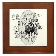 Grand Teton Vintage Moose Framed Tile