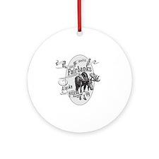 Fairbanks Vintage Moose Round Ornament