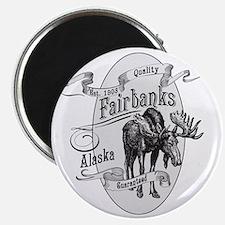 Fairbanks Vintage Moose Magnet