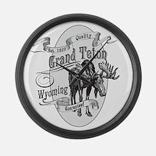 Grand Teton Vintage Moose Large Wall Clock