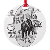 Grand teton national park christmas Round Ornament