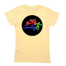 Triathlon Color Figures 3D Girl's Tee
