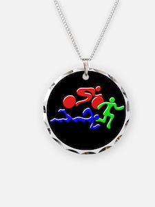 Triathlon Color Figures 3D Necklace