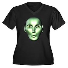Weird Alien Women's Plus Size V-Neck Dark T-Shirt