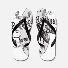 Redwood Vintage Moose Flip Flops