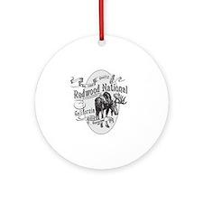 Redwood Vintage Moose Round Ornament