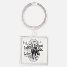 Redwood Vintage Moose Square Keychain