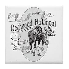 Redwood Vintage Moose Tile Coaster
