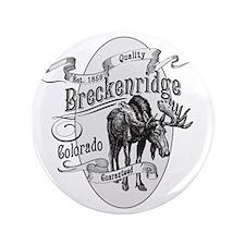 """Breckenridge Vintage Moose 3.5"""" Button"""