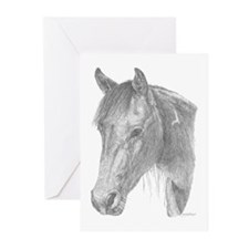 Black Jack Paint Horse Greeting Cards (Pk of 10)