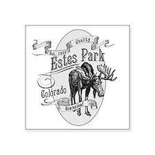 """Estes Park Vintage Moose Square Sticker 3"""" x 3"""""""