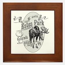 Estes Park Vintage Moose Framed Tile