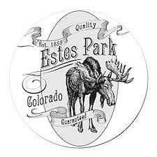 Estes Park Vintage Moose Round Car Magnet