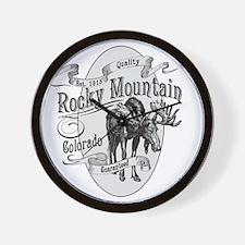 Rocky Mountain Vintage Moose Wall Clock