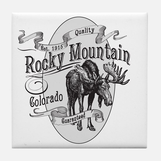 Rocky Mountain Vintage Moose Tile Coaster