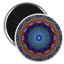 Fractal Kaleidoscope Round Magnet