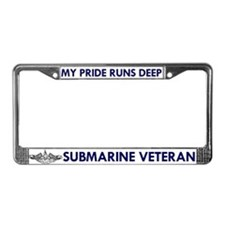 Submarine Veteran License Plate Frame