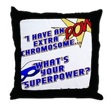 Extra Super Power Throw Pillow
