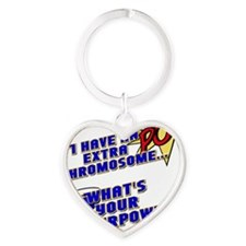 Extra Super Power Heart Keychain