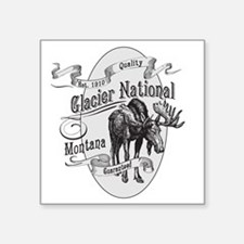 "Glacier National Vintage Mo Square Sticker 3"" x 3"""