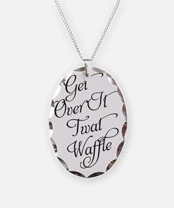 Get Over It Necklace Oval Charm