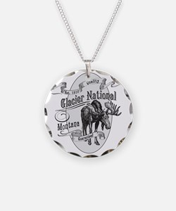 Glacier National Vintage Moo Necklace
