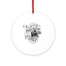 Glacier National Vintage Moose Round Ornament